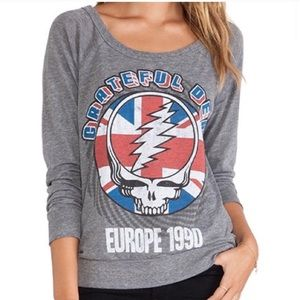 Chaser Grateful Dead burnout graphic tee shirt